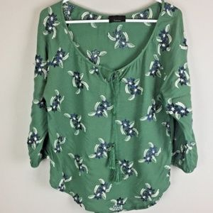 Lumiere Top Size Large Blouse Shirt Embroidered
